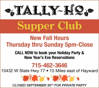 New Fall Hours