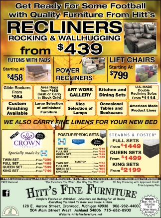 Recliners Rocking & Wallhugging from $439