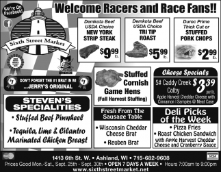 Welcome Racers and Race Fans!!