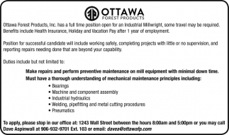 Industrial Millwright