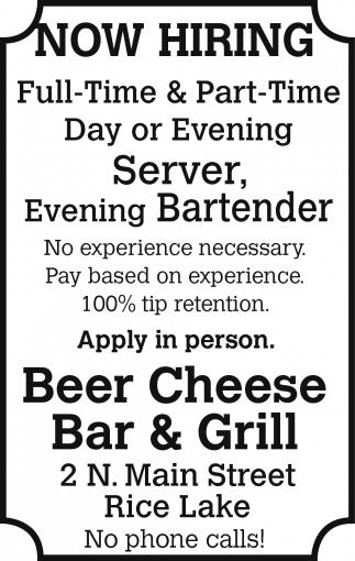 Server, Bartender