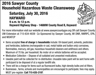 Household Hazardous Waste Cleansweep