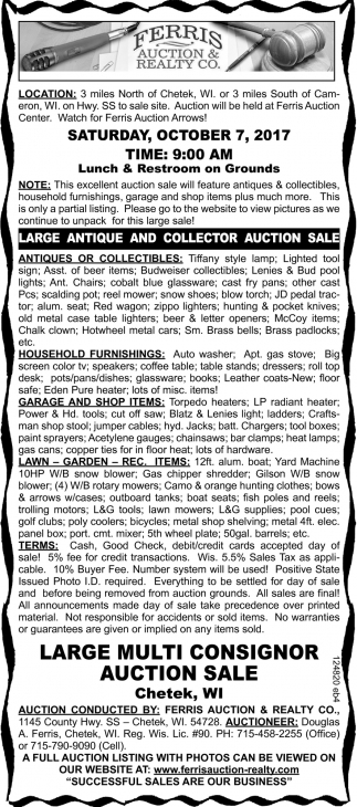 Large Antique and Collector Auction Sale