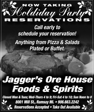 Holiday Party Reservations