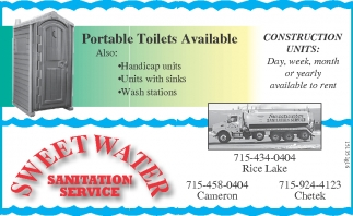 Portable Toilets Available