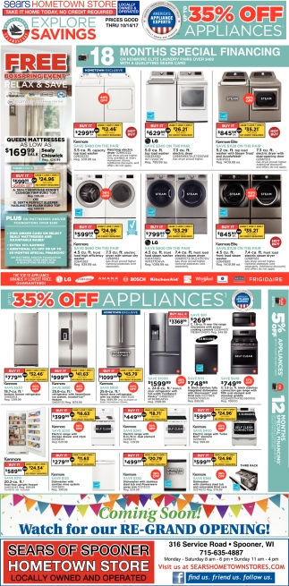 35% off appliances