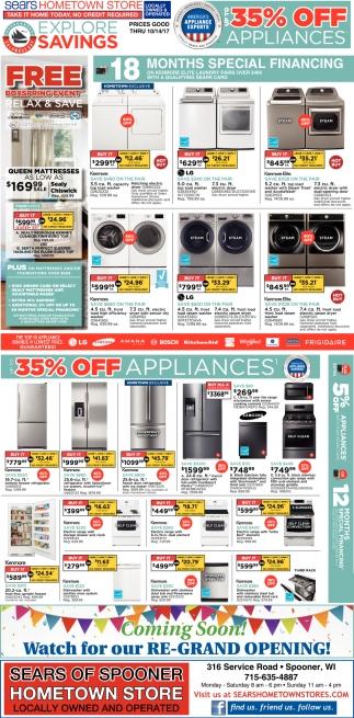 35% off appliances