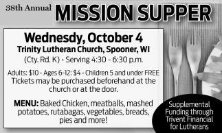 38th Annual Mission Supper