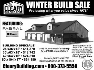Winter Build Sale