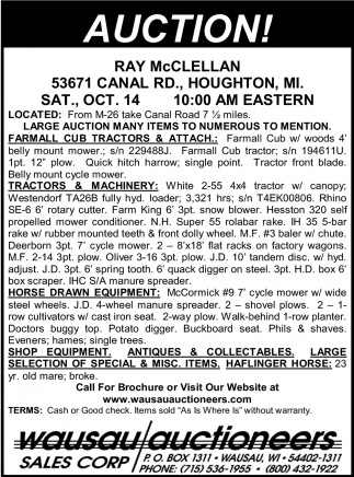 Auction Ray McClellan