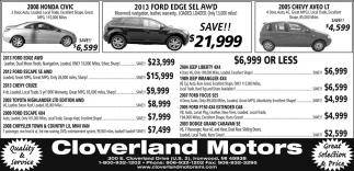 Honda, Ford, Chevy