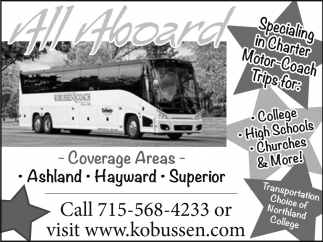 Charter Motor Coach Trips Kobussen Buses Ltd Turtle Lake Wi