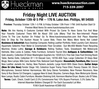 Friday Night Live Auction