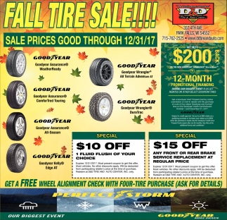 Fall Tire Sale!!