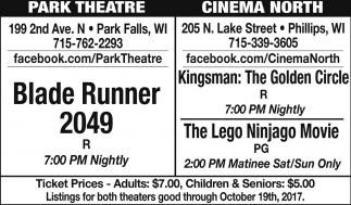 Blade Runner 2049 - Kingsman: The Golden Circle, The Lego Ninjago Movie