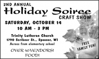 2nd Annual Holiday Soiree Craft Show
