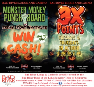 Monster Money Punch Board