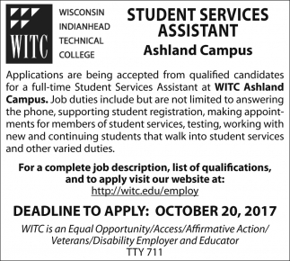 Student Services Assistant