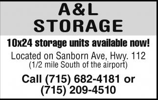 Ads For A u0026 L Storage in Ashland WI  sc 1 th 179 & 10x24 storage units available now! A u0026 L Storage Ashland WI