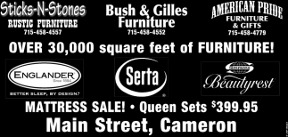 Over 30,000 square feet of furniture