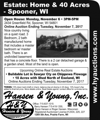 Estate: Home & 40 Acres - Spooner