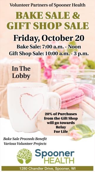 Bake Sale & Gift Shop Sale
