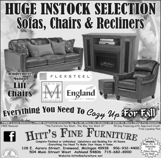 Sofas, Chairs & Recliners