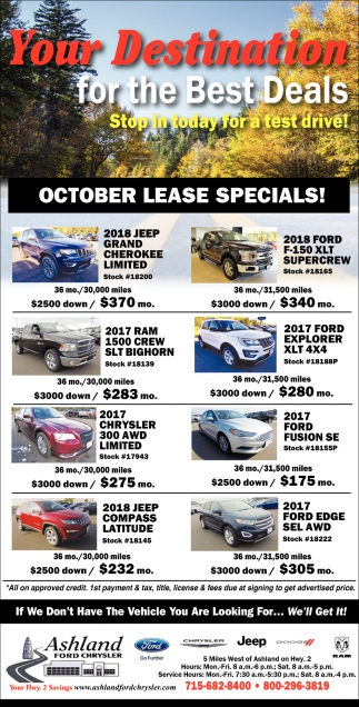 October Lease Specials!