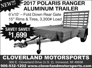 2017 Polaris Ranger Aluminum Trailer