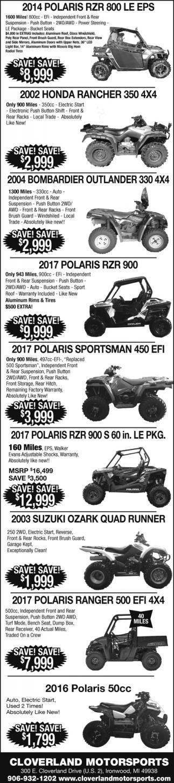 Polaris, Honda, Bombardier, Suzuki