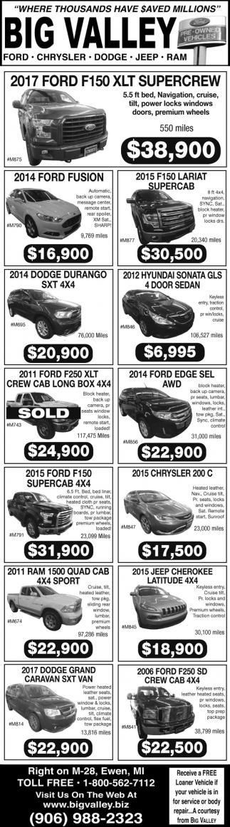 Ford, Chrysler, Dodge, Jeep, Ram