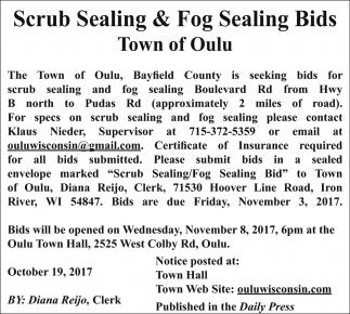 Scrub Sealing & Fog Sealing Bids