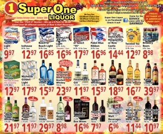 Select from 96 different varieties of Beer & Malt Beverages