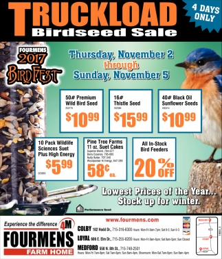 Truckload Birdseed Sale