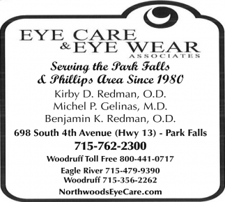 Serving the Park Falls & Phillips Since 1980