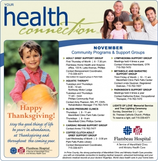 November Community Programs & Support Groups