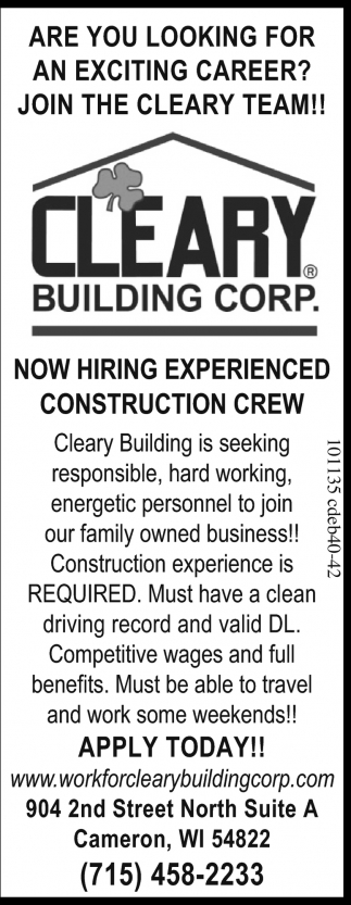 Experienced Construction Crew