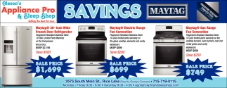 Savings Maytag