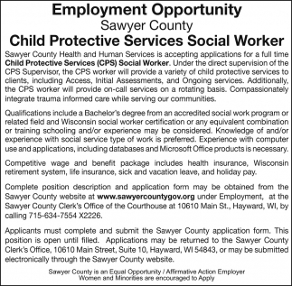 Protective services social worker sawyer county hayward wi child protective services social worker sawyer county hayward wi 1betcityfo Gallery
