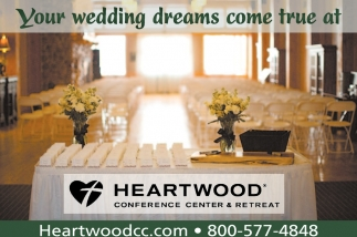 Your wedding dreams come true at Heartwood Conference Center