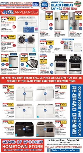 kenmore 02273433. black friday savings, sears hometown store - spooner, wi kenmore 02273433