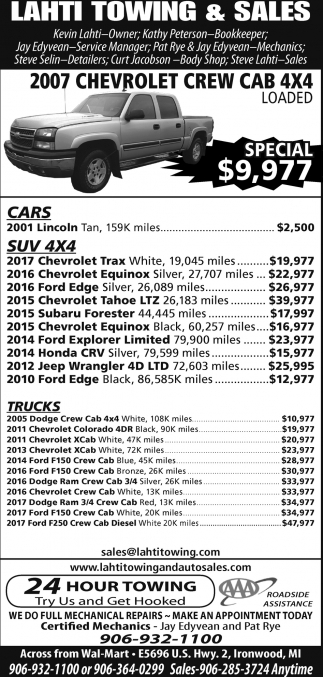 2007 Chevrolet Crew Cab 4X4