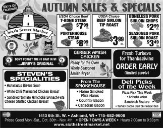 Autumn Sales & Specials