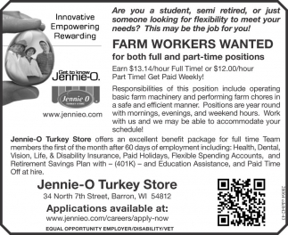FAR, WORKERS WANTED