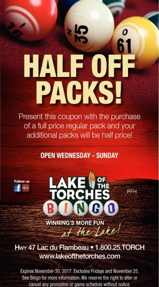 Half off packs!