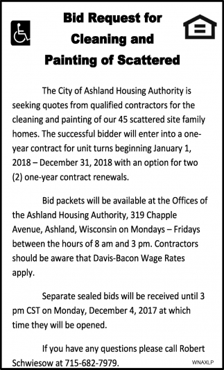 Bid Request for Cleaning and Painting of Scattered