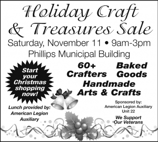 Start your Christmas shopping now!, Holiday Craft & Treasures Sale ...