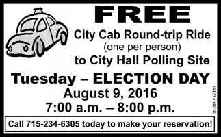 FREE City Cab Round-trip Ride