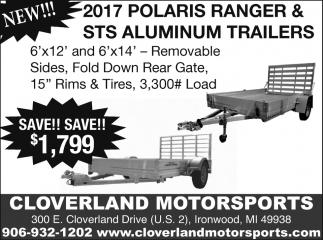 2017 Polaris Ranger & STS Aluminum Trailers