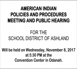 Meeting and Public Hearing